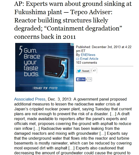 AP Experts warn about ground sinking at Fukushima plant — Tepco Adviser Reactor building structures likely degraded.jpg