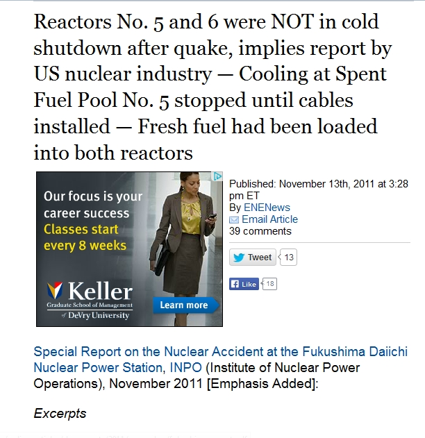 Reactors No. 5 and 6 were NOT in cold shutdown after quake, implies report by US nuclear industry.jpg