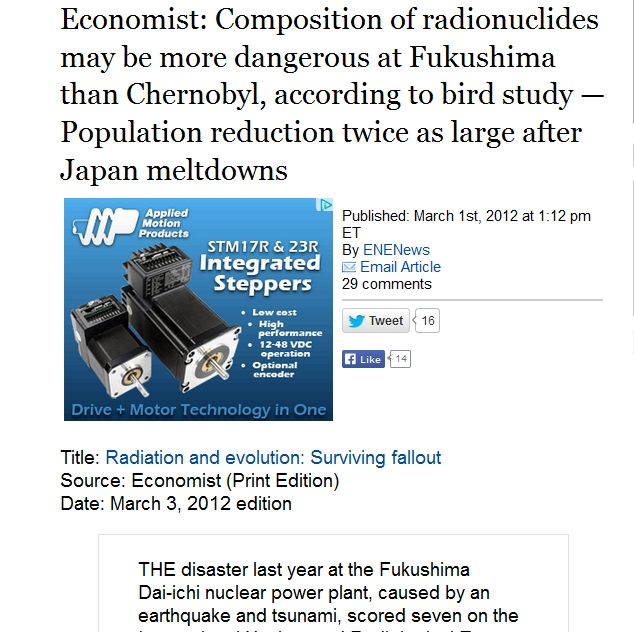 Economist Composition of radionuclides may be more dangerous at Fukushima than Chernobyl, according to bird study.jpg