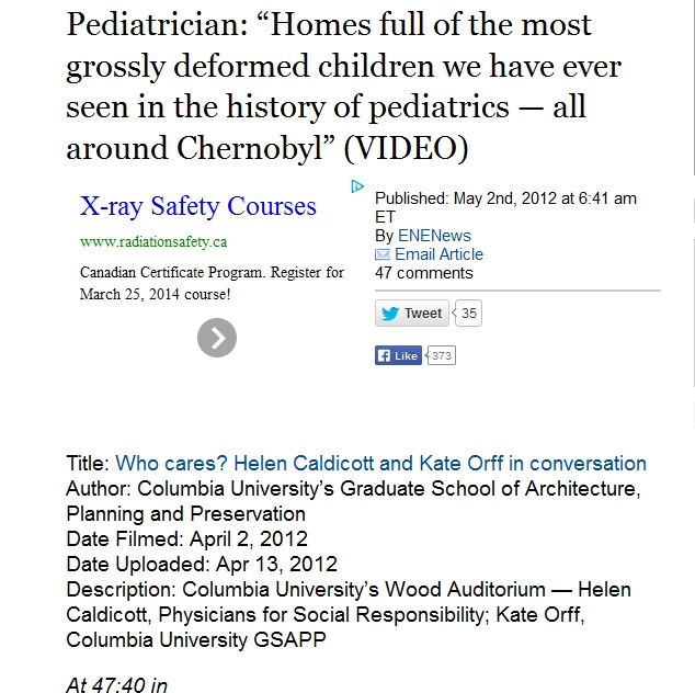"Pediatrician ""Homes full of the most grossly deformed children we have ever seen in the history of pediatrics — all around Chernobyl.jpg"