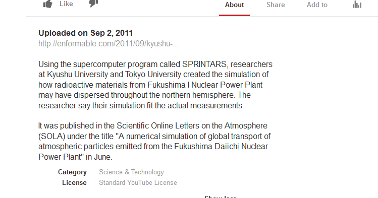 Kyushu University Researchers Release Radioactive Materials Dispersion Model.png