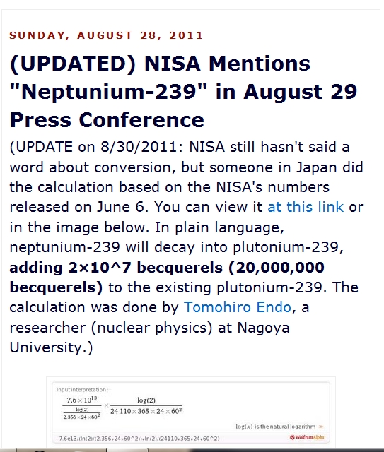 "NISA Mentions ""Neptunium-239″ in August 29 Press Conference, EX-SKF, August 28, 2011.jpg"