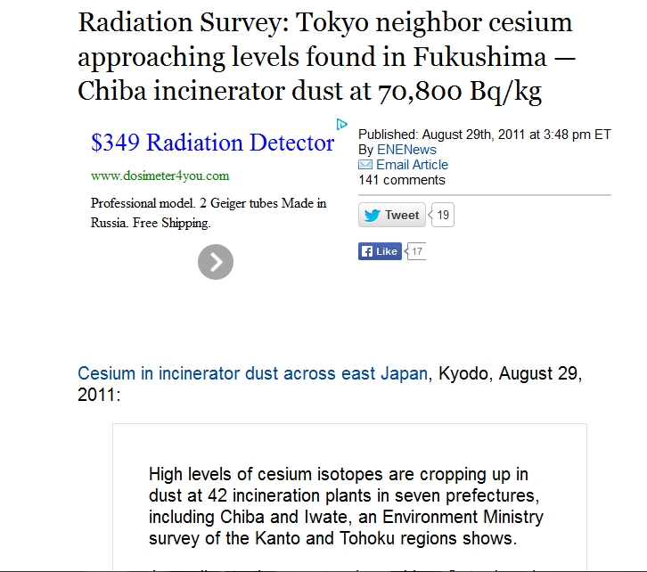 70,000 bq Radiation Survey Tokyo neighbor cesium approaching levels found in Fukushima — Chiba incinerator dust at 70,800 Bqkg.jpg