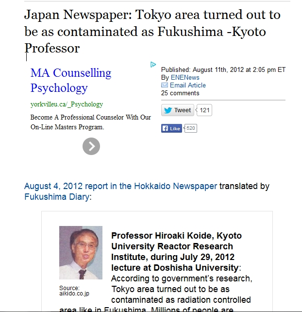 215 km Japan Newspaper Tokyo area turned out to be as contaminated as Fukushima -Kyoto Professor.jpg