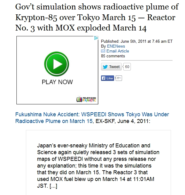 219 km  Gov't simulation shows radioactive plume of Krypton-85 over Tokyo March 15 — Reactor No. 3 with MOX exploded March 14.jpg