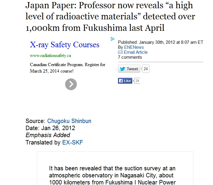 "1000 km Japan Paper Professor now reveals ""a high level of radioactive materials"" detected over 1,000km from Fukushima.jpg"