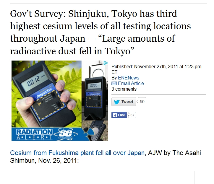 Gov't Survey Shinjuku, Tokyo has third highest cesium levels of all testing locations throughout Japan 1.jpg