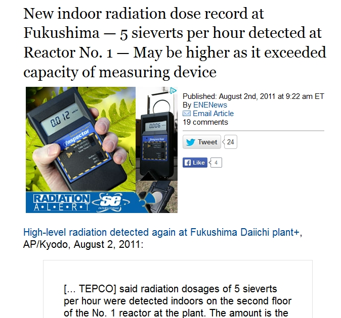 New indoor radiation dose record at Fukushima — 5 sieverts per hour detected at Reactor No. 1.jpg