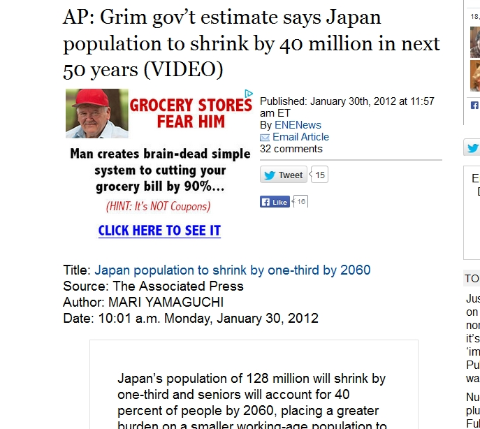 1a AP Grim gov't estimate says Japan population to shrink by 40 million in next 50 years.jpg