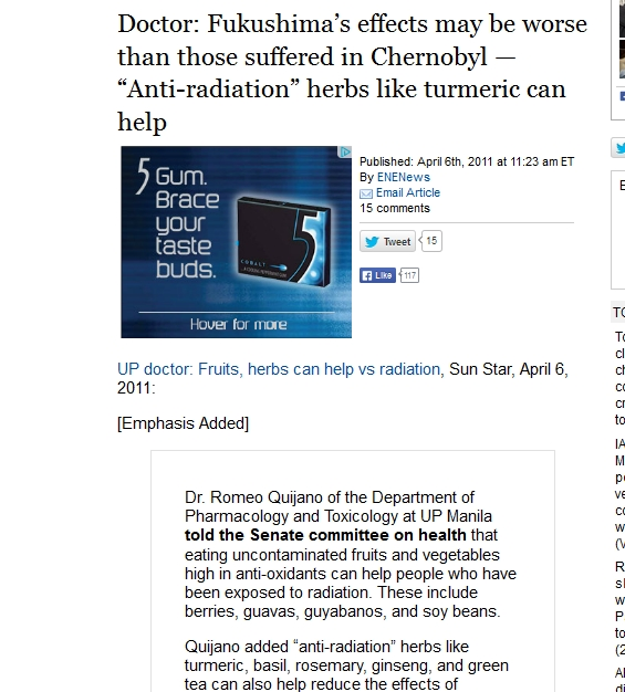 "Doctor Fukushima's effects may be worse than those suffered in Chernobyl — ""Anti-radiation"" herbs like turmeric can help.jpg"