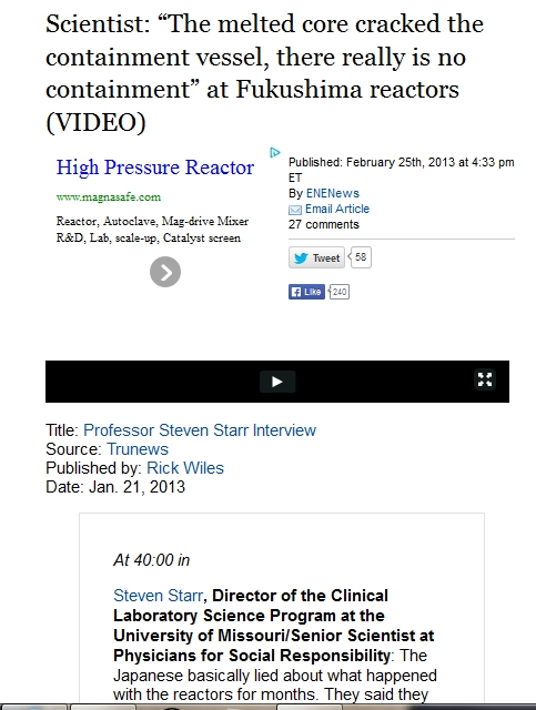 """Scientist """"The melted core cracked the containment vessel, there really is no containment"""" at Fukushima reactors.jpg"""