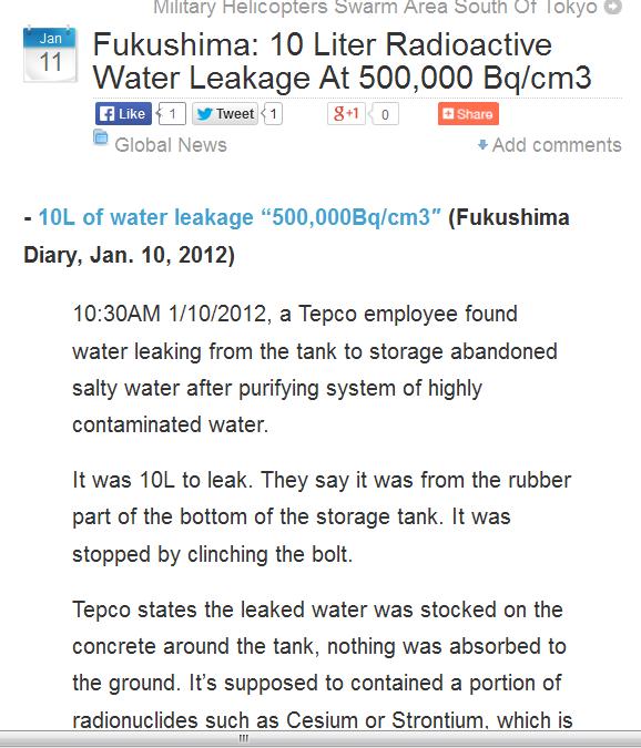 Fukushima 10 Liter Radioactive Water Leakage At 500,000 Bqcm3.png