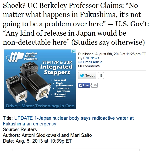 "1a Shock UC Berkeley Professor Claims ""No matter what happens in Fukushima, it's not going to be a problem over here.jpg"