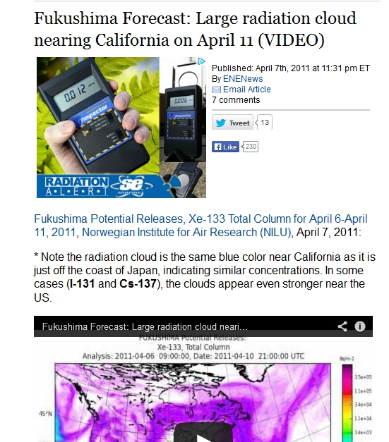2 Fukushima Forecast Large radiation cloud nearing California on April 11.jpg
