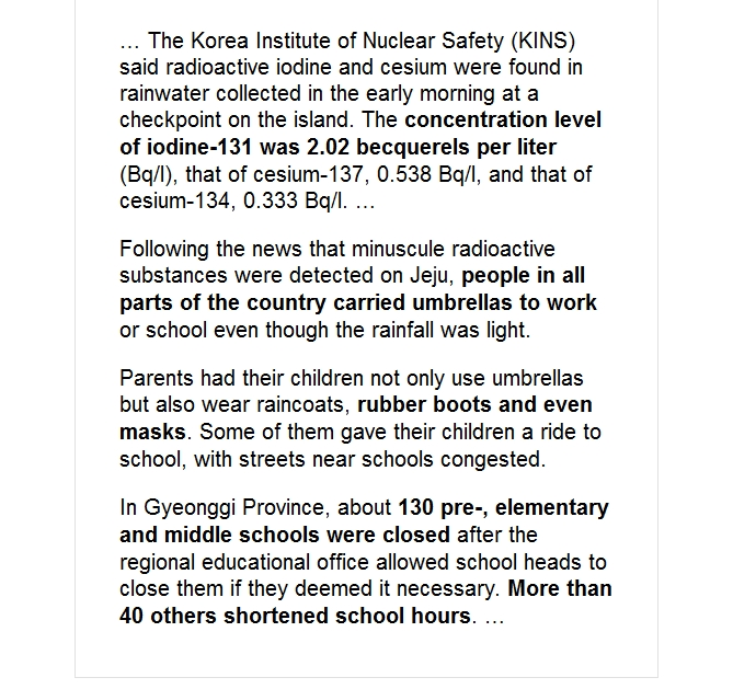 Radioactive rain causes 130 schools in Korea to close — Yet rain in California had 10 TIMES more radioactivity 2.jpg