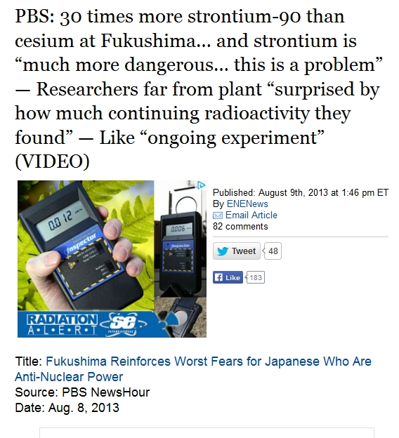 """1b canada  PBS 30 times more strontium-90 than cesium at Fukushima… and strontium is """"much more dangerous.jpg"""