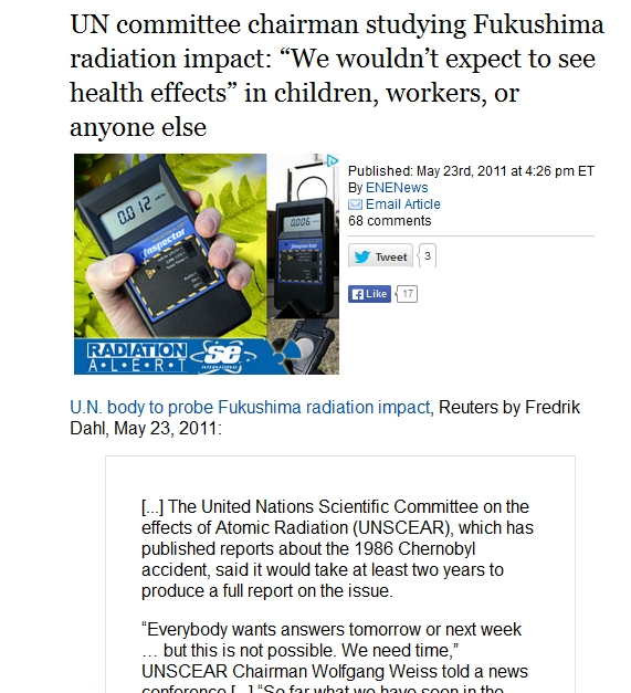 2 UN  studying Fukushima radiation wouldn't expect health effects children, workers 1.jpg