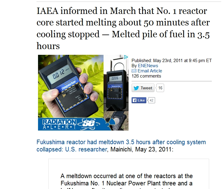 IAEA informed in March that No. 1 reactor core started melting about 50 minutes.jpg