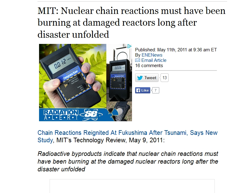 MIT Nuclear chain reactions must have been burning at damaged reactors.jpg