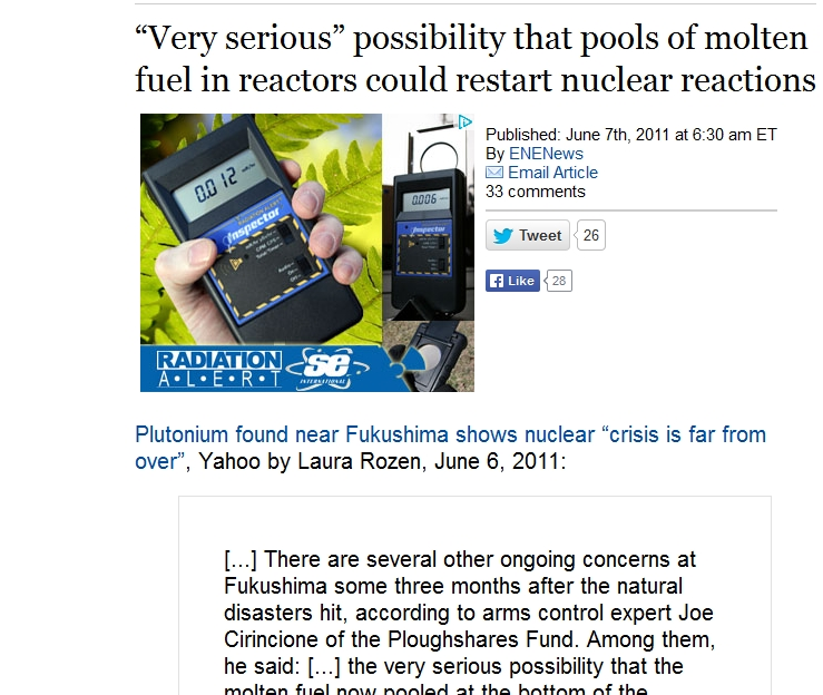 "Very serious"" possibility that pools of molten fuel in reactors could restart nuclear reactions.jpg"