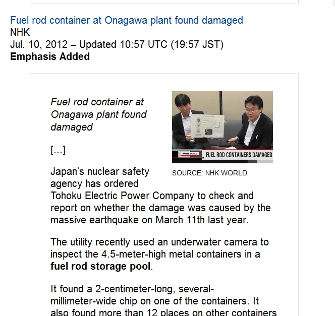 Onagawa  Fuel rod container at Onagawa plant found damaged.jpg