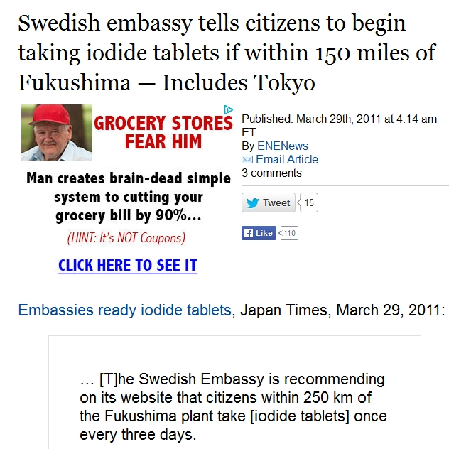 Swedish embassy tells citizens to begin taking iodide tablets if within 150 miles of Fukushima — Includes Tokyo.jpg