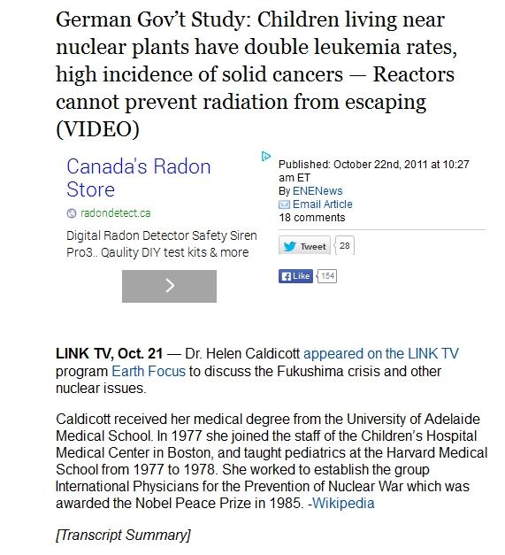 Study Children living near nuclear plants have double leukemia rates.jpg