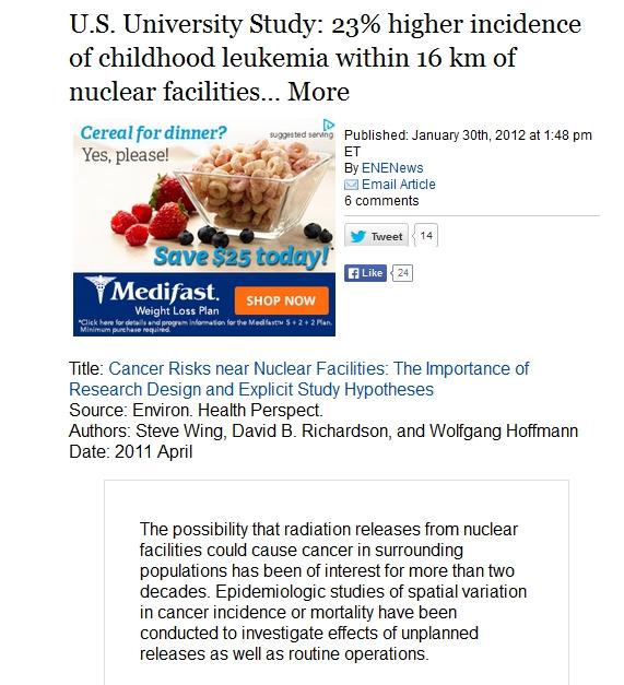 U.S.  Study 23% higher incidence childhood leukemia within 16 km nuclear facilities 1.jpg