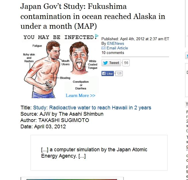 Japan Gov't Study Fukushima contamination in ocean reached Alaska in under a month.jpg