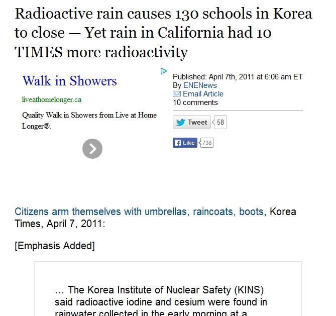 Radioactive rain causes 130 schools in Korea to close — Yet rain in California had 10 TIMES more radioactivity 1.jpg