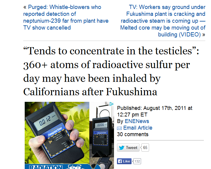 """Tends to concentrate in the testicles"""" 360+ atoms of radioactive sulfur per day may have been inhaled by Californians after Fukushima.PNG"""