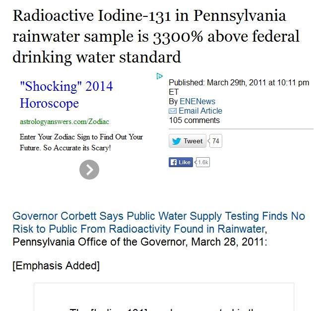 v Radioactive Iodine-131 in Pennsylvania rainwater sample is 3300% above federal drinking water standard.jpg