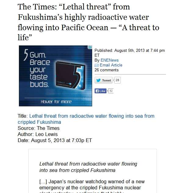 """1 The Times """"Lethal threat"""" from Fukushima's highly radioactive water flowing into Pacific Ocean.jpg"""