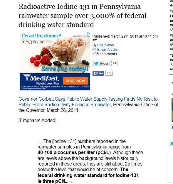 Radioactive Iodine-131 in Pennsylvania rainwater sample over 3,000% of federal.jpg