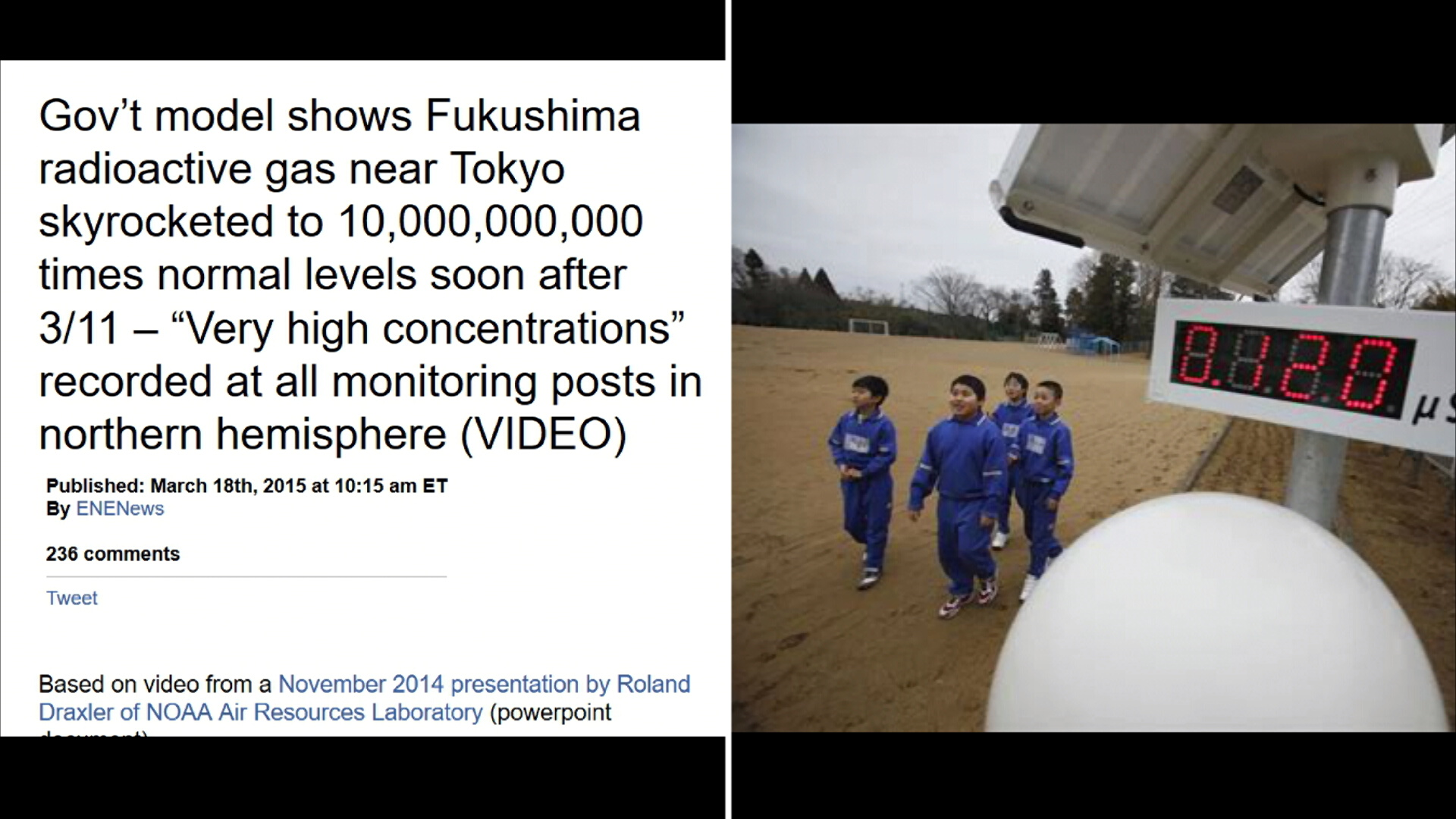 Tokyo radiation skyrocketed to 10 billion  times normal after Fukushima