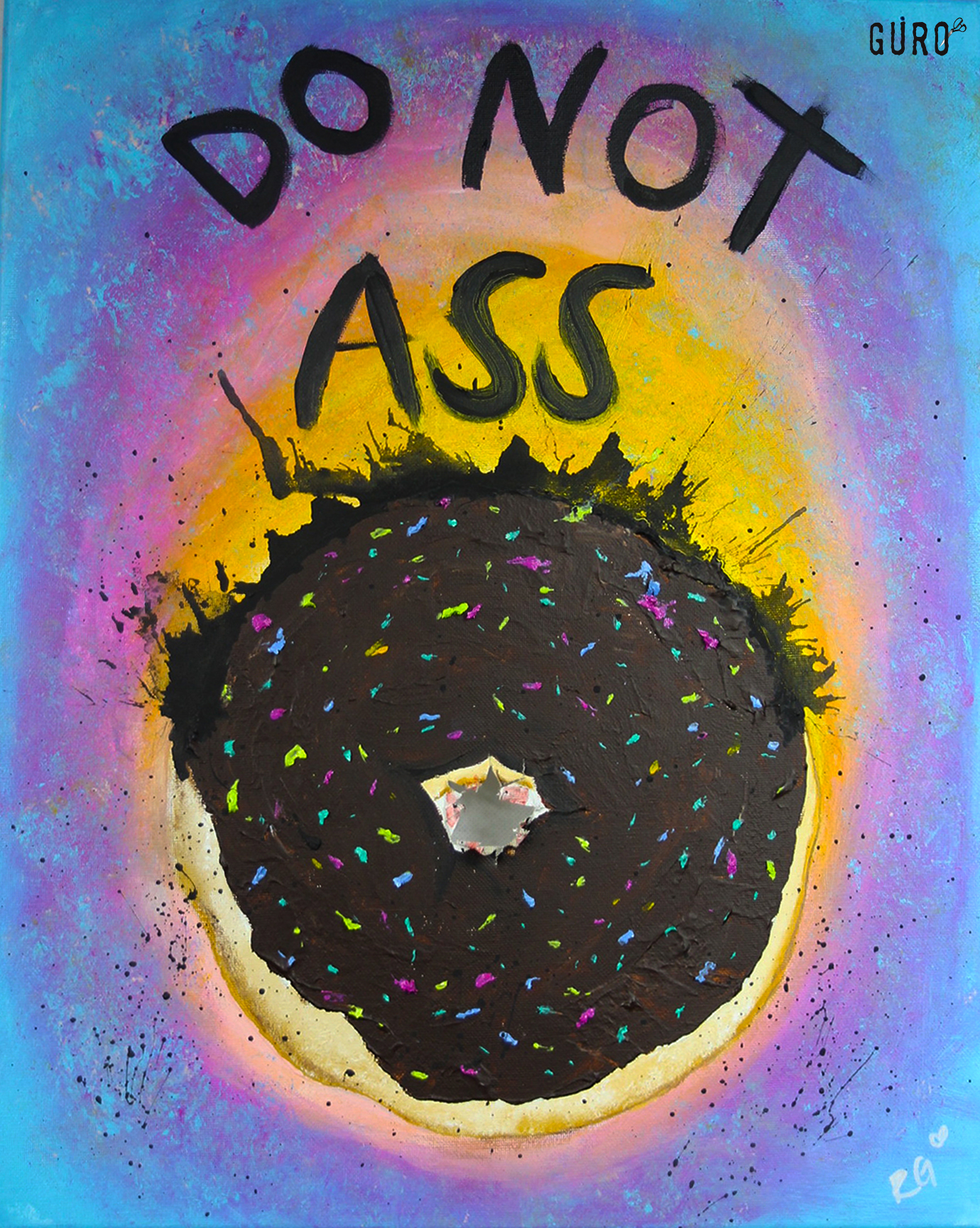 Do not Butt me - Acrylic on Canvas11x14