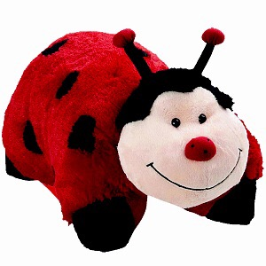 This is Lucy. She's a ladybug pillow pet. She and Katie drove down for the weekend. Lucy didn't do much of the driving.
