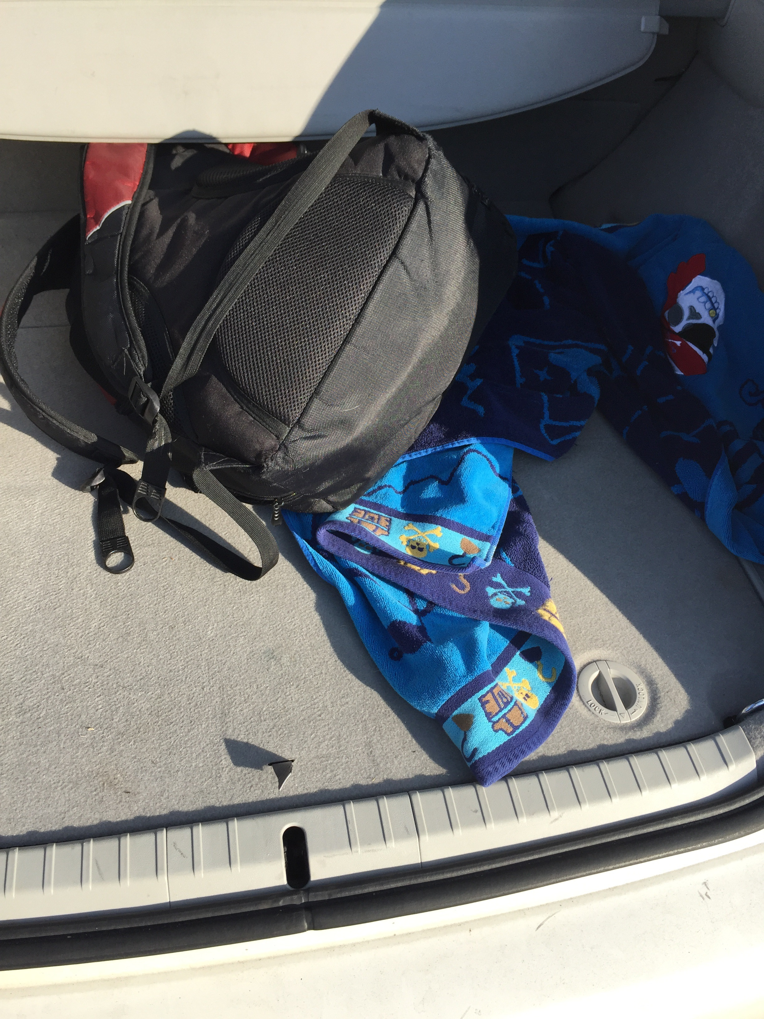 That's my gym bag, and towel, as I pulled them from the car