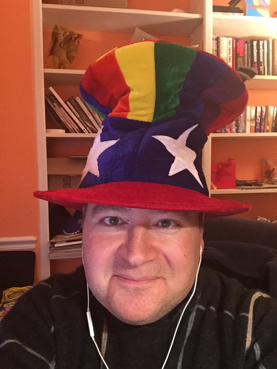 Proud podcasting hat