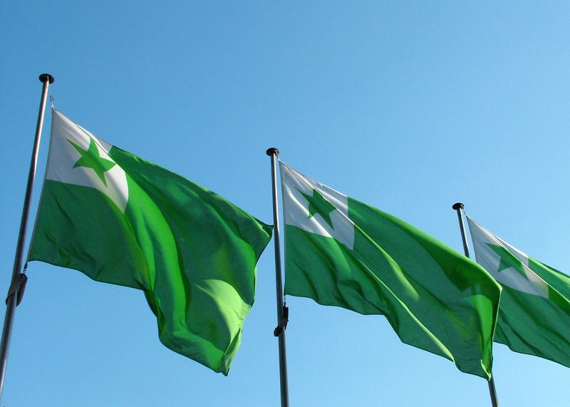 The Esperanto flag -