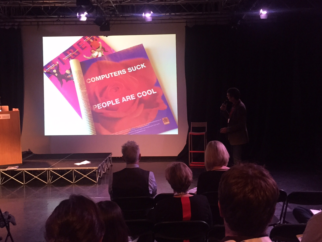 'RESPONSIBLE MARKETING'  : Nick Corston presents at Ad Conference in Shoreditch with adman legend Dave Trott on the front row