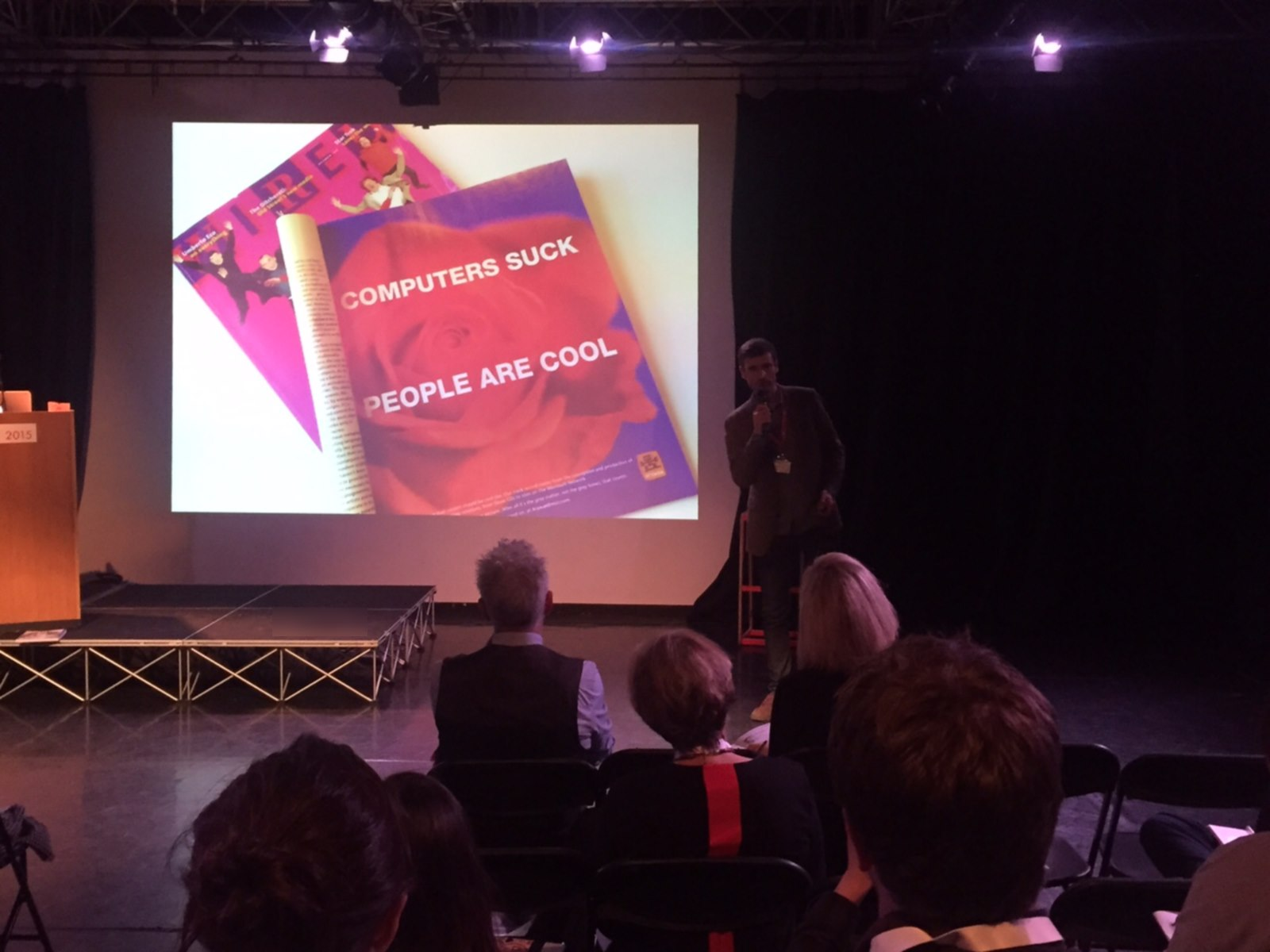 Front cover and Arawak ad in Wired magazine from 1995 in a talk by Nick on 'responsible marketing' at the DAU2015 event in London, November 2015