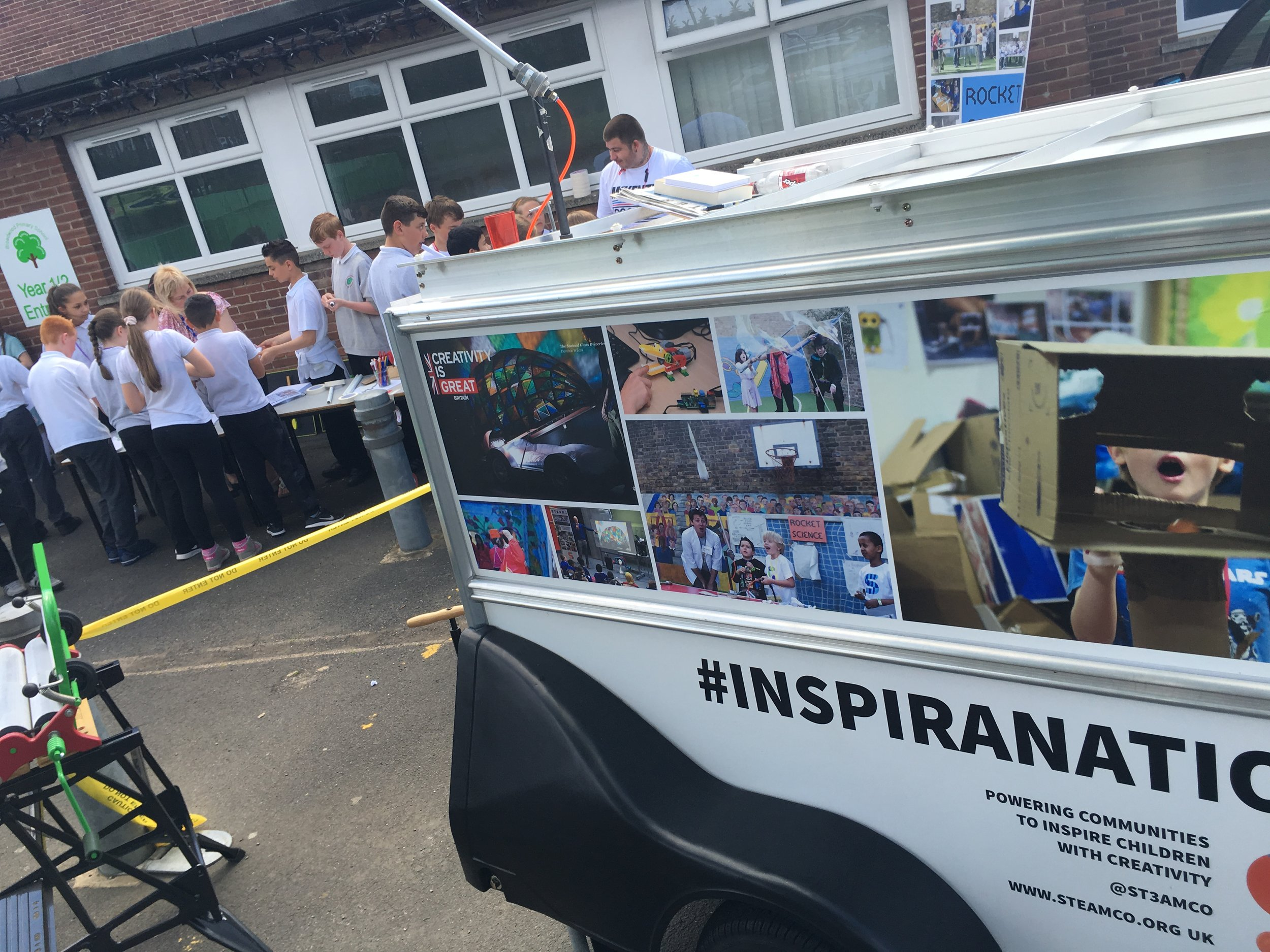 The STEAM Co. Drop Truck and Rocket Science activity at Broadwood Primary in Newcastle