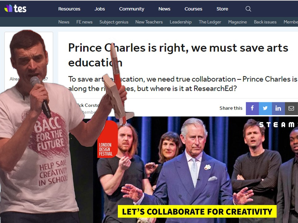 Read this article on HRH's event in the Times Education Supplement by STEAM Co. Co-Founder Nick Corston