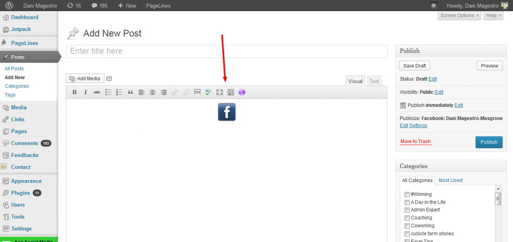 How to add a social media button to your wordpress website