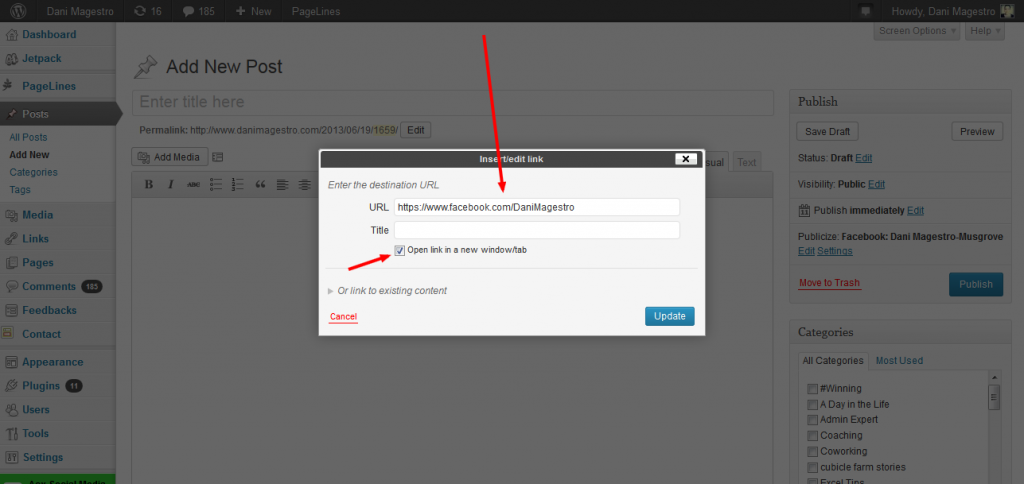How to add a social media icon to your wordpress site