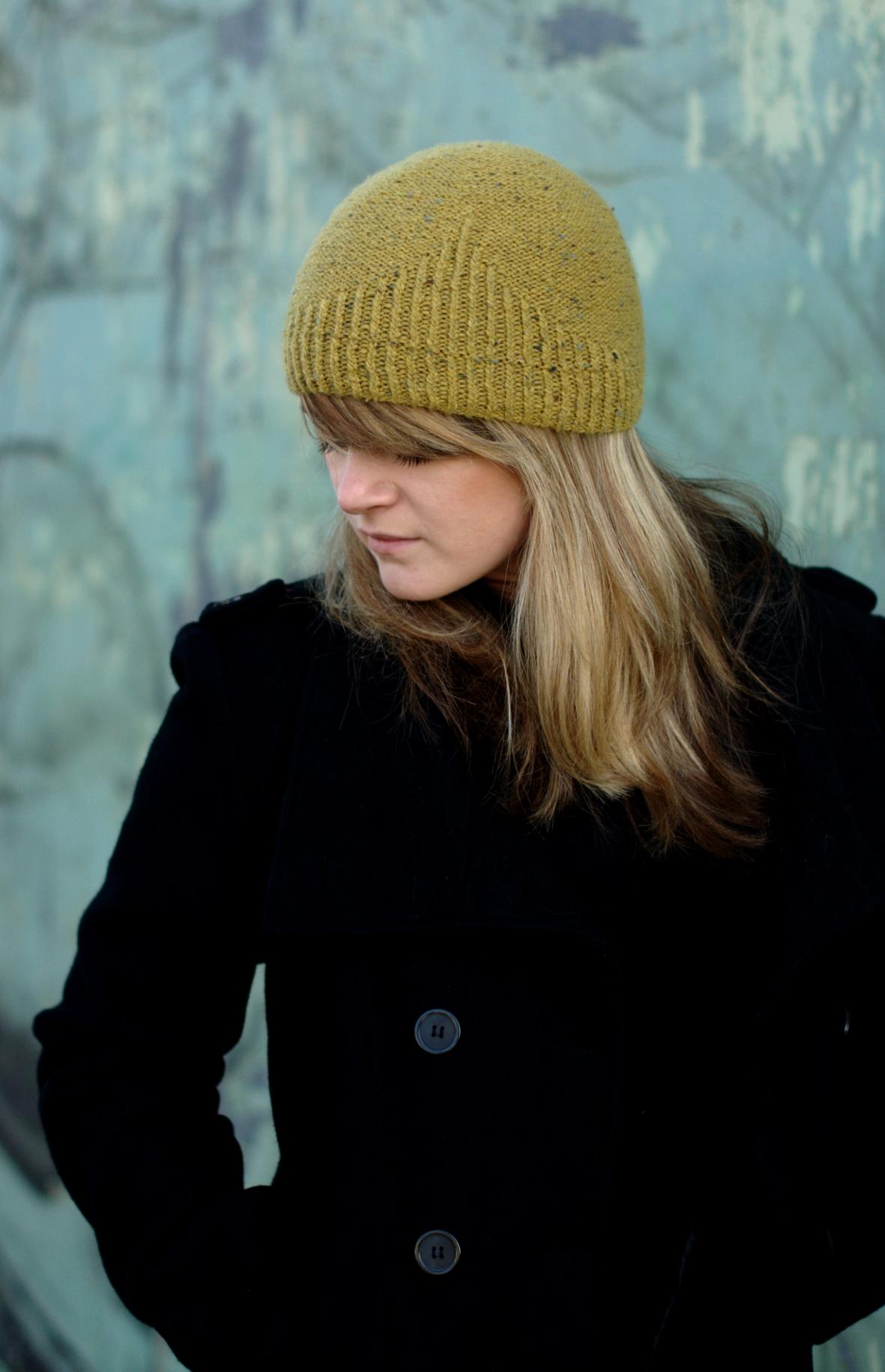 Half Theory beanie knitting pattern