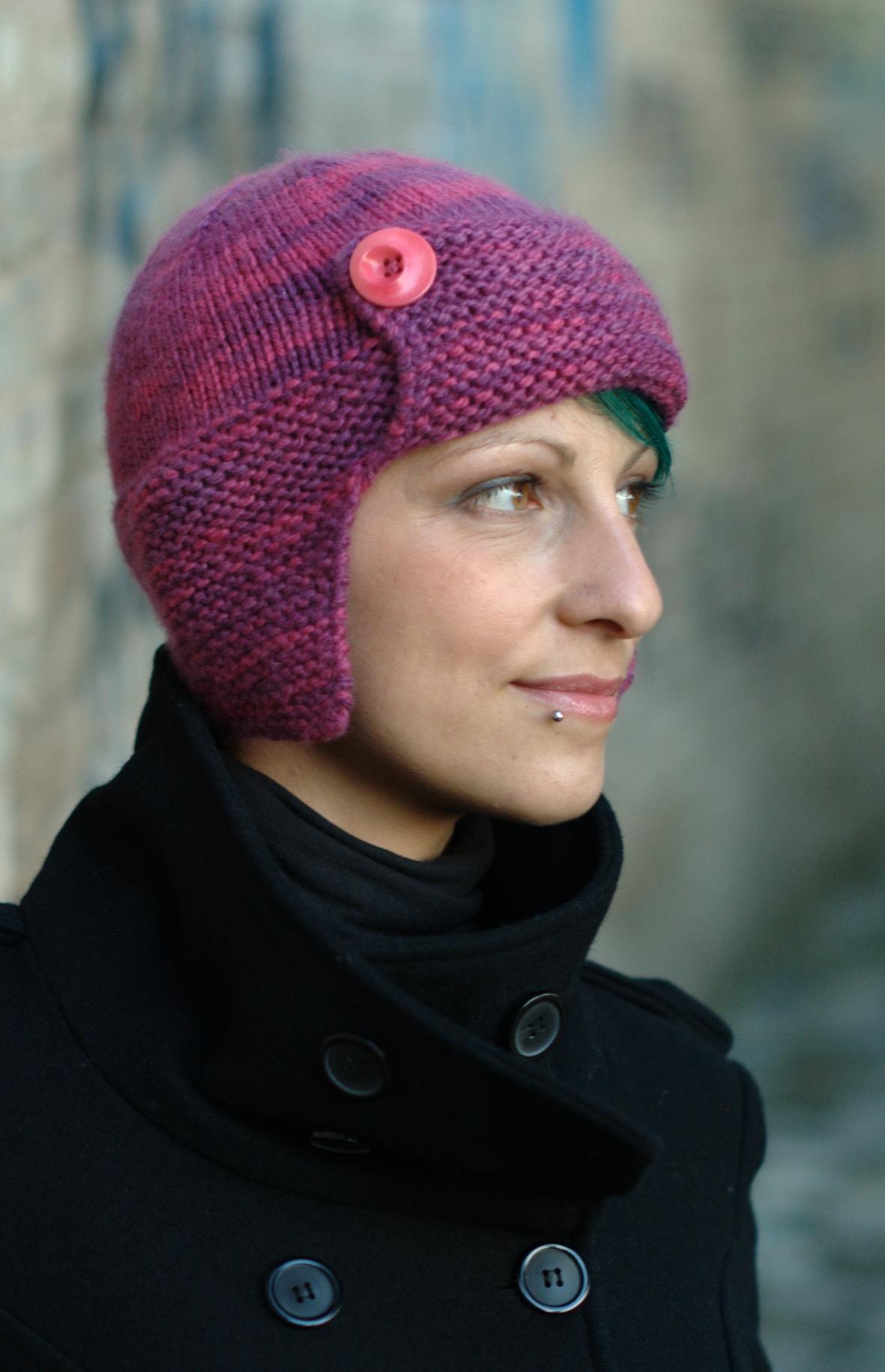 Karenin aviator Hat knitting pattern