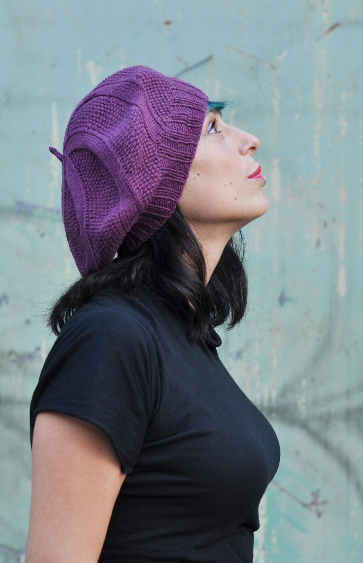 Coldharbour Twist beret knitting pattern