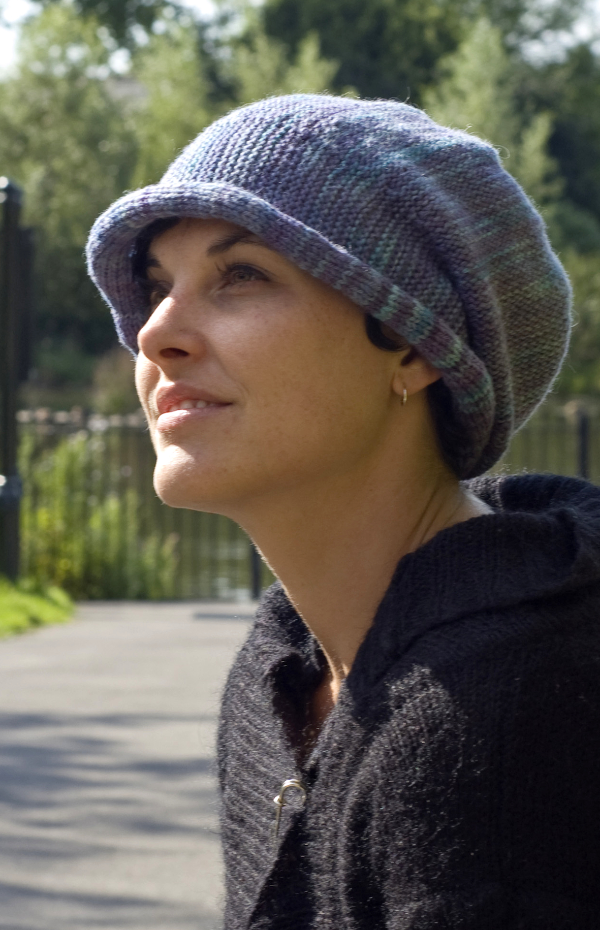 Dulcie sideways knit brimmed Hat pattern